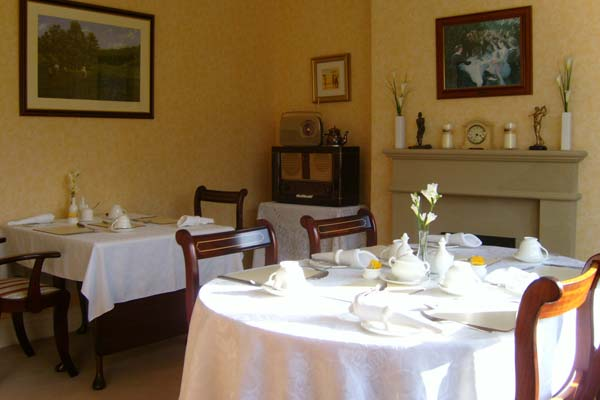 Breakfast room at Greenhills B&B, Leyburn