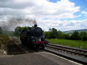 Steam Engine Coming into Redmire